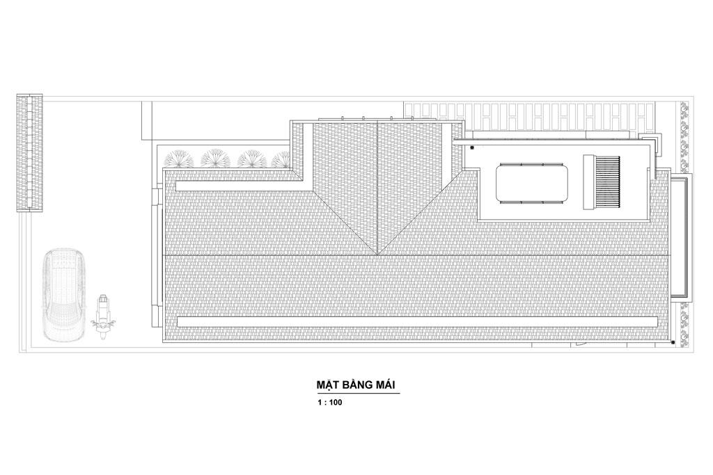 Thiết kế tầng mái nhà biệt thự 2 tầng tân cổ điển.